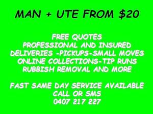 SOFA/LOUNGE PICKED UP? MAN AND UTE FROM $20 ALL AREAS WE WILL PIC Brisbane City Brisbane North West Preview