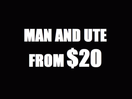 NEED A SOFA DELIVERED? MAN AND UTE FROM $20 FREE QUOTES