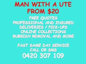 MAN WITH A UTE FROM $20 SAME DAY SERVICE FREE QUOTES Brisbane City Brisbane North West Preview