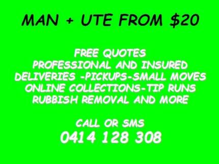 RUBBISH REMOVAL AND GENERAL DELIVERIES MAN WITH A UTE FROM $20