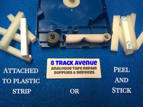 8 Track Tape Foam Pressure Pads, One Piece, 15 Pack