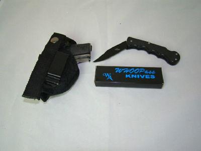 Free Nylon Holster - NYLON BELT GUN HOLSTER FITS SPRING FIELD XD 9,45,357, ISSC M22 OWB,FREE KNIFE304