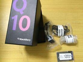 For sale Blackberry Q10 Black Full Box Unused