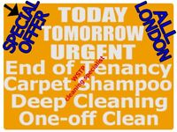 SPECIAL OFFER NOW ON ALL LONDON PROFESSIONAL END TENANCY CLEANING, CARPET CLEANERS, DEEP HOUSE CLEAN