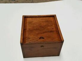 Ships compass in handmade mahogany box