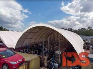W12m x L12m Dome Shelter between 2 Containers - FREE SHIPPING!