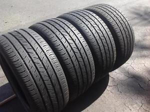 Set of 4 235/40/18 Continental 70% tread