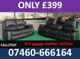 3 AND 2 SEATER LEATHER RECLINER SOFA 30