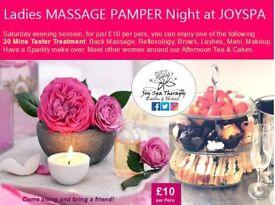 ✿ NEW Ladies MASSAGE PAMPER Night Facial,Mani,Pedi,Brows,Lashes & Afternoon Tea at JOYSPA Newcastle✿