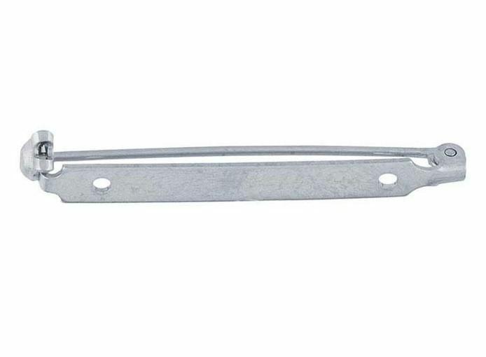 Bar Pin Brooch Pin 1.5 inch Nickel American Made Narrow Locking Pin S2038