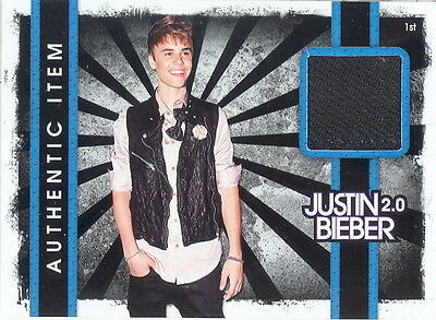 Justin Bieber Costume (JUSTIN BIEBER 2.0 2011 PANINI EVENT WORN JET BLACK PANTS COSTUME CARD)