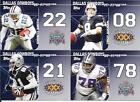 Reprint Dallas Cowboys Football Trading Cards Lot