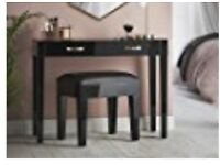 Black mirrored dressing table ONLY