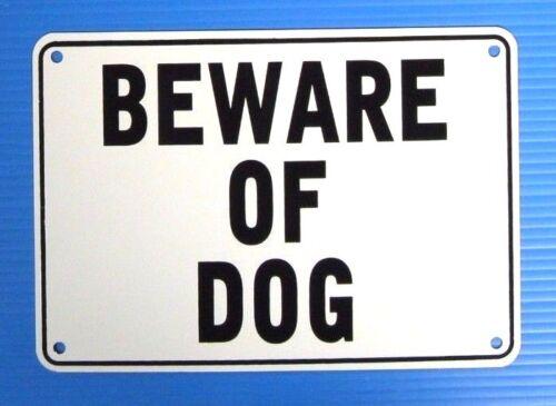 """""""BEWARE OF DOG"""" 10"""" x 7"""" WARNING SIGN, METAL,"""