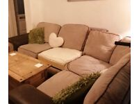 Corner sofa - needs gone ASAP as moving this weekend. Cheap!