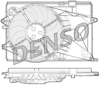 Denso DER15004 Engine Cooling Fan Replaces 95352381