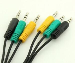 5ft. - 3x 3.5mm Male to 3.5mm Male TRS Audio Cable for 5.1 Channel Computer Speakers