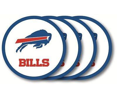 Buffalo Bills Coaster - Buffalo Bills Coaster Set - 4 Pack [NEW] NFL Drink Bar Man Cave Shot