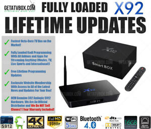 ★FULLY LOADED★ Fastest Android TV Box Original X92 Octa Core