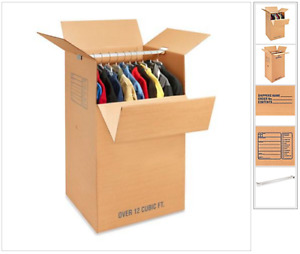Cardboard Moving Boxes & Wardrobe Boxes Priced to Sell