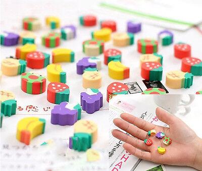 20pcs Novelty Fruit Encourage Pencil Rubber Eraser Student Stationery Kids Gifts - Pencil Eraser