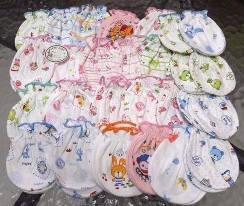 25 Pairs / 50 Pcs GLOVES MITTENS NEW BORN BABY  BABIES Boy Girl Clothing  Mixed