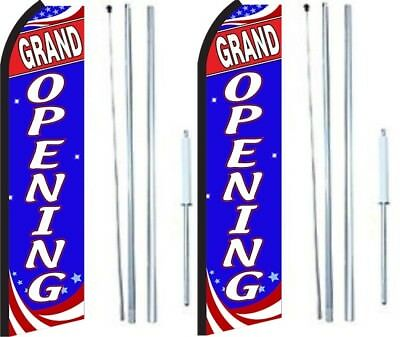 Grand Opening Swooper Flag With Complete Hybrid Pole Set