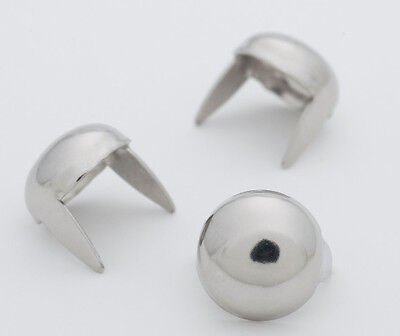 """Med.Silver Dome Studs 3/8"""" -Bag of 100 (for denim and leather) StudsAndSpikes"""