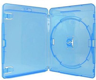 50 Amaray Blu-ray Hüllen 1er Box 11 mm für je 1 BD / CD / DVD blau