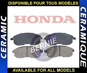 CERAMIC FRONT BRAKE PADS HONDA CIVIC CRV SI FREINS AVANT
