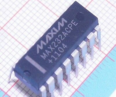 10 Pcs Max232acpe Dip Max232 5v-powered Receivers