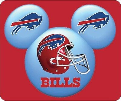 BUFFALO BILLS MOUSE PAD. DISNEY MICKEY EARS LOGO. NFL.....FREE SHIPPING
