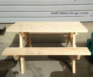 Hand-Made Children's Wooden Picnic Tables