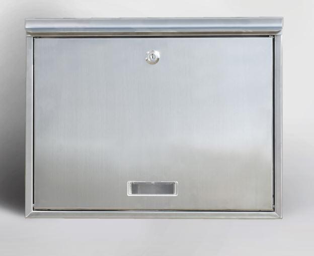 zaunbriefkasten mauerdurchwurf briefkasten m klingel beleuchtung edelstahl eur 95 00. Black Bedroom Furniture Sets. Home Design Ideas