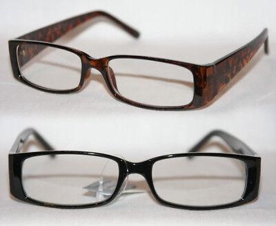 Nerd Brille Klarglas flach klassisch Damen und Herren schwarz oder braun 286
