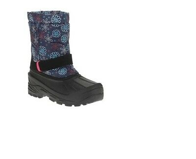 Unbranded pre walk Girl's Essential Winter Boots 5 Blue Floral Daisy New Baby Daisys Walk