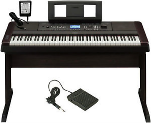 Wooden stand and sustain pedal -for the Yamaha 650 digital piano Windsor Region Ontario image 1