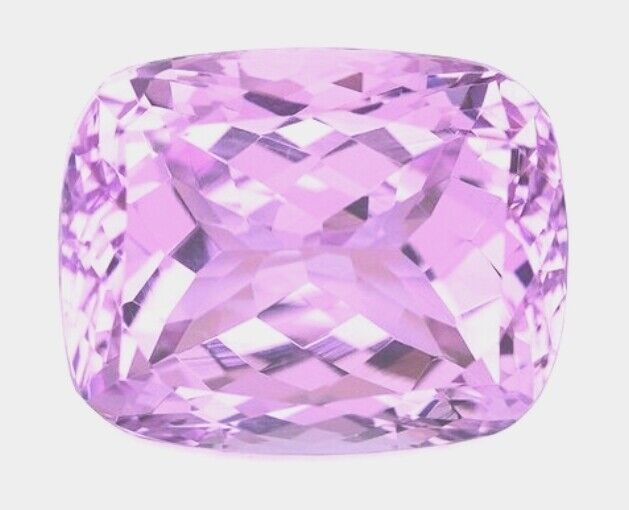 KUNZITE 9 x 7 MM CUSHION CUT CHECKERBOARD TOP NATURAL AND UNTREATED