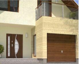 High Quality, Modern Design, Steel Entrance Door, Rosewood