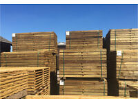 FEATHER EDGE PRESSURE TREATED WOODEN FENCING PANELS/ PIECES/ BOARDS ~ VARIOUS SIZES 🌲