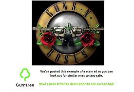 Guns & Roses Tickets x2 --- Read description before replying!