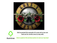 Guns & Roses Tickets x2 --- Read description before replying!