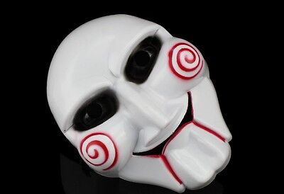 Halloween Cosplay Costume Clown Doll Fun Unisex Saw Puppet Horror Scary Mask (Halloween Puppets Scary)
