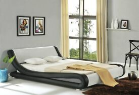 Double Bed Brand New Black & White