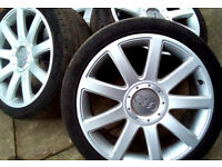 Audi 18 inch main dealer alloys with tyres