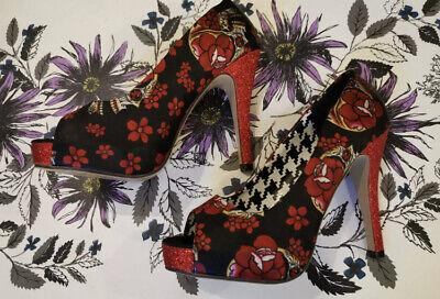T. U. K Tuk Skull Sparkly Stiletto heels Like Iron Fist- size 5