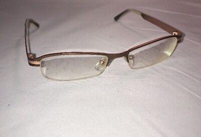 Mens Designer Semi Rimless Brown/Bronze  Eyeglasses Frames 51[] 20 (Designer Semi Rimless Frames)