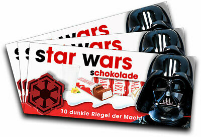 3x Aufkleber STAR WARS (Darth Vader) für Kinderschokolade (Geschenk, Gadget) ()