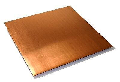 Copper Sheet .043 Thick - 32oz - 18 Ga - 8x10 - Free 48 State Shipping