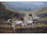 Karl Wood Oil on Canvas (large) Setters